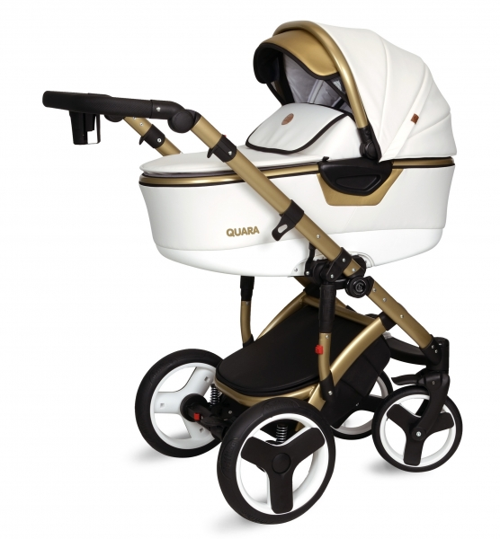 Kočík Coto Baby 2 v 1 QUARA Eco 2021 - white, gold