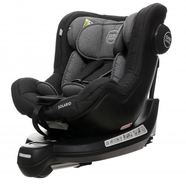 Coto Baby Autosedačka Solária s 360 °otáčaním, ISOFIX systémom,protismerná, 0-18 kg,  grey