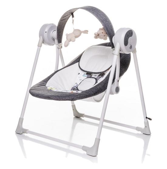 4 BABY Lehátko / hojdačka pre dojčatá Swing - sivá