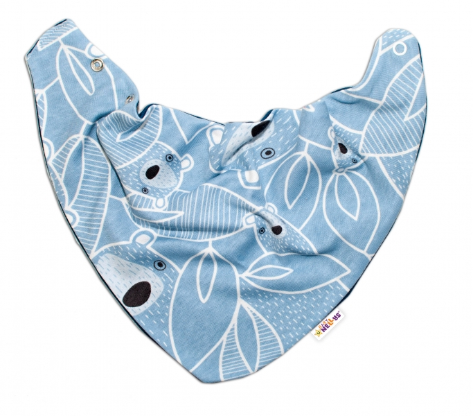 Baby Nellys Detský šatka na krk Medvedík, modrý