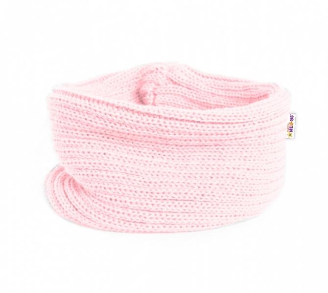 Pletený nákrčník / komínok Baby Nellys ® - sv. ružový-#Velikost koj. oblečení;3-8let