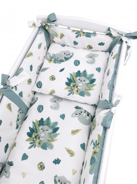 Baby Nellys 6-dielna súprava do kolísky Tropical Koala, zelená, biela