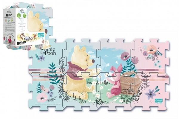 Penové puzzle Medvedík Pú 32x32x1cm 8ks v sáčku 2+