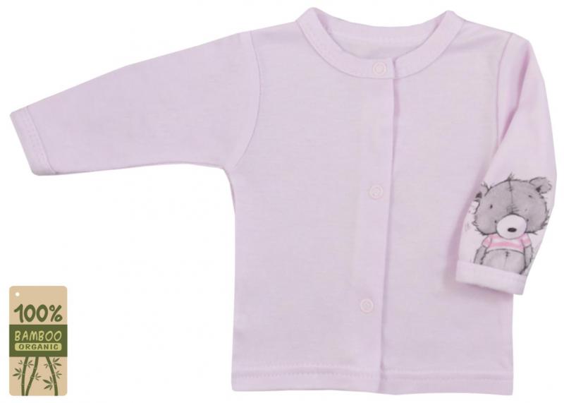 Koala Baby kabátik / košieľka bambus Tommy - ružová, veľ. 74