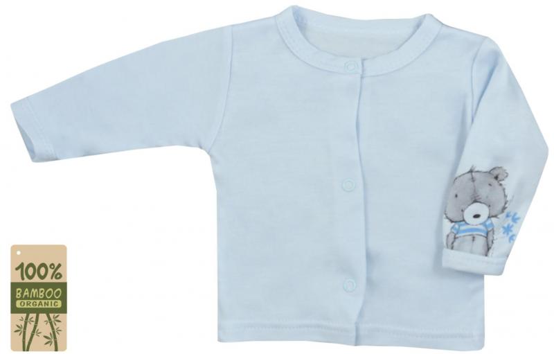 Koala Baby kabátik / košieľka bambus Tommy - modrá, veľ. 74