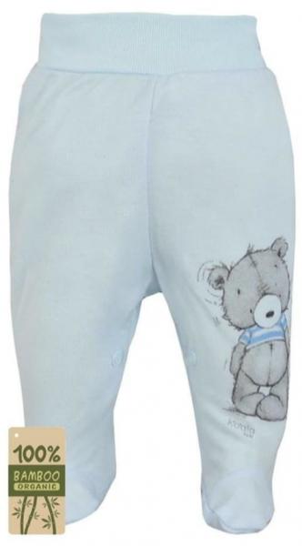 Koala Baby Dojčenské polodupačky bambus Tommy - modrá, veľ. 56