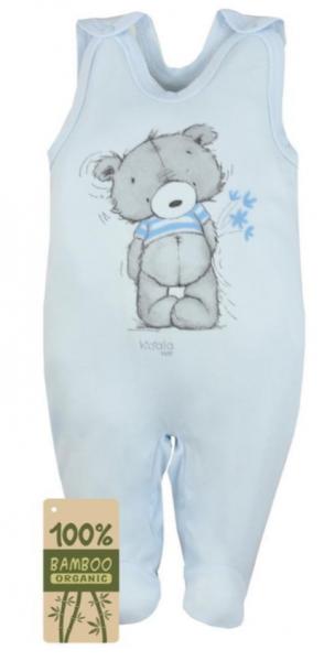Koala Baby Dojčenské dupačky bambus Tommy - modrá, veľ. 74