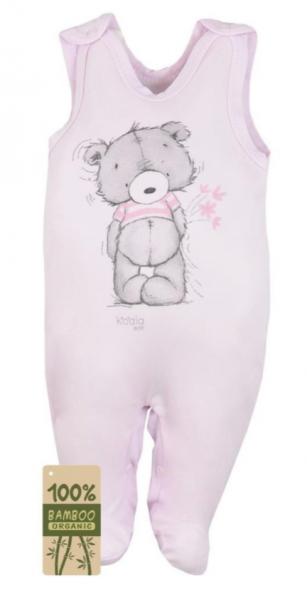 Koala Baby Dojčenské dupačky bambus Tommy - ružová, veľ. 74