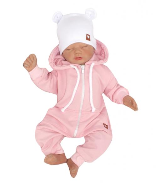 Z & Z Detský teplákový overal s kapucňou, ružový, veľ. 86-#Velikost koj. oblečení;86 (12-18m)