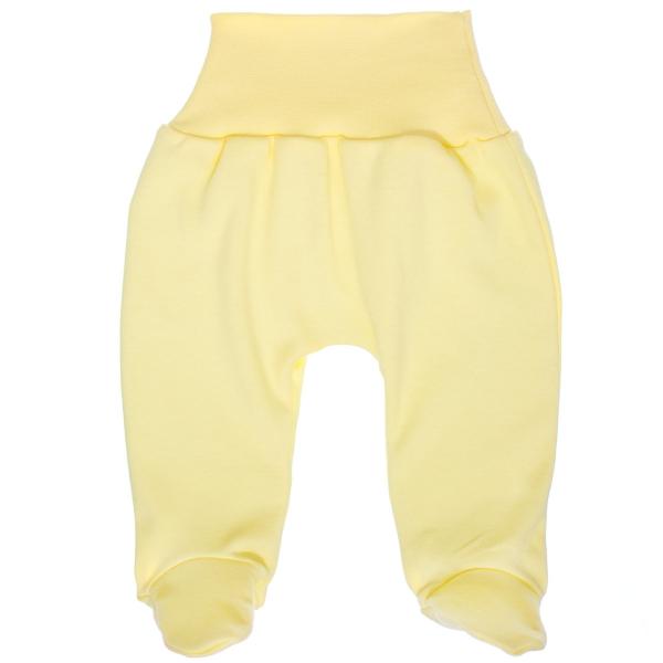 MBaby Bavlnené polodupačky - žlté, veľ. 74-#Velikost koj. oblečení;74 (6-9m)