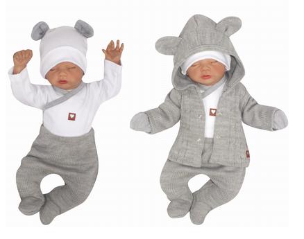 Z & Z 5-dielna kojenecká súpravička do pôrodnice - šedá, biela
