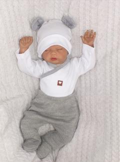 Kojenecká 5-dielna súprava do pôrodnice - šedá, biela, veľ. 68