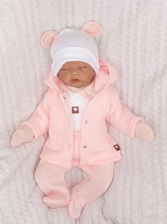 Kojenecká 5-dielna súprava do pôrodnice - růžová, biela, veľ 50
