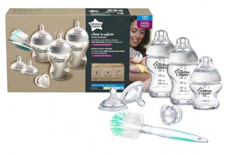 Tommee Tippee Novorodenecká štartovacia sada sklenená- neutrálna