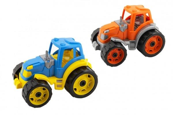 Traktor 24x16cm plast na voľný chod 2 farby 12m +
