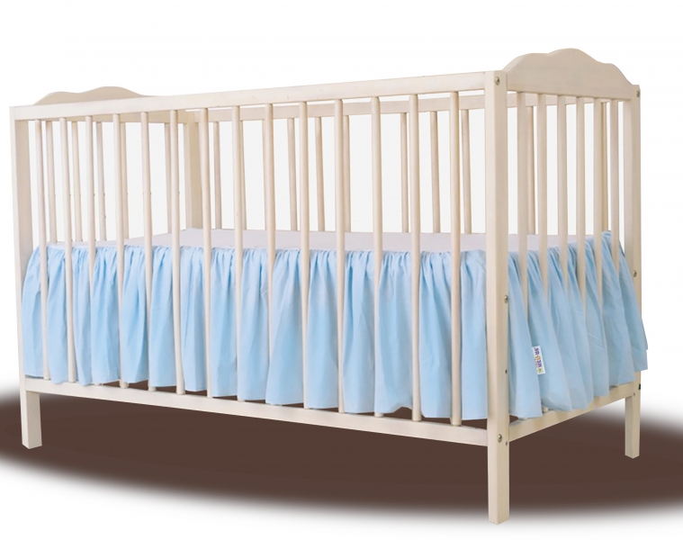 Baby Nellys Bavlnený volánik pod matrac - sv. modrý