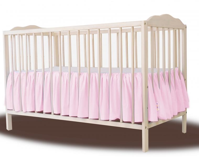 Baby Nellys Bavlnený volánik pod matrac - růžová-#Rozměry;120x60