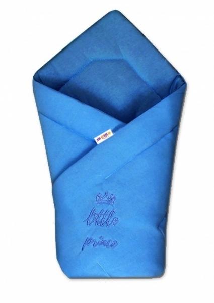 Baby Nellys Rýchlozavinovačka Little Prince - jersey - tm. modrá