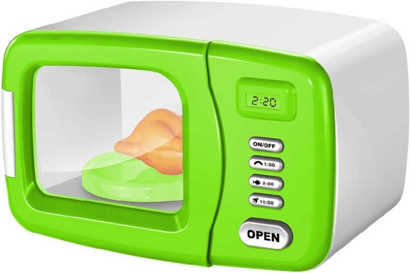 Detská Mikrovlnná rúra na batérie - zelená