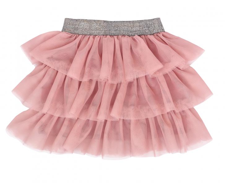 Mamatti Dojčenská tylová sukňa, Vlčí Mak - ružová s šedým pásom-#Velikost koj. oblečení;74/80