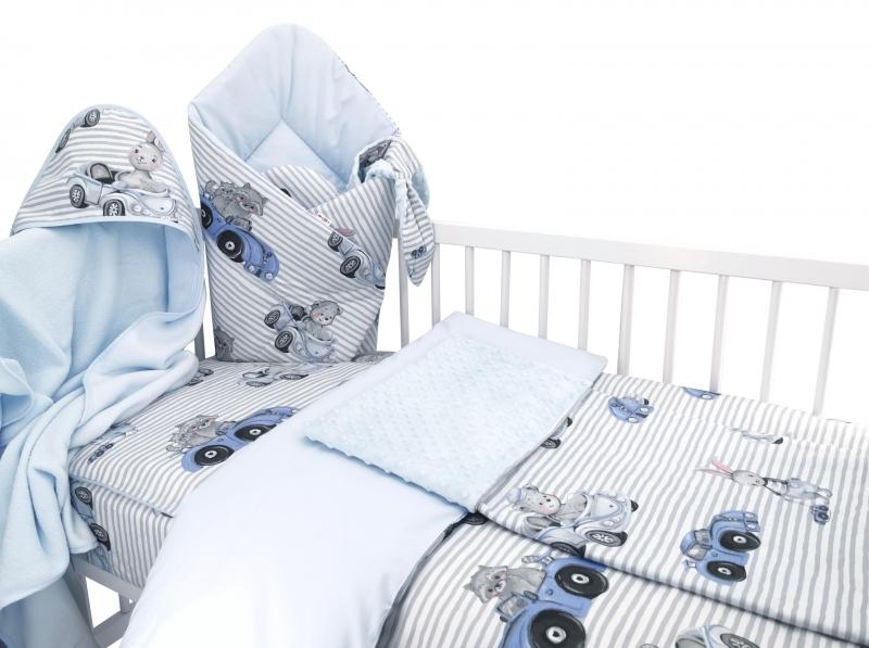Baby Nellys 6-dielna výhod. súprava pre bábätko s darčekom,135x100, Baby Car, modrá