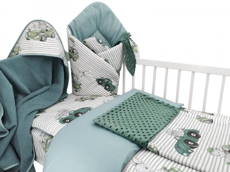 Baby Nellys 6-dielna výhod. súprava pre bábätko s darčekom,120 x 90, Baby Car, zelená