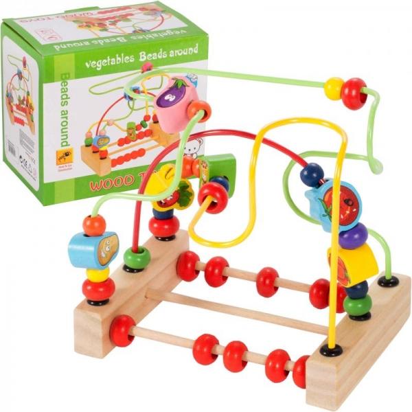 Tulimi Edukačná labyrint s počítadlom a drevenými prvkami - Zelenina