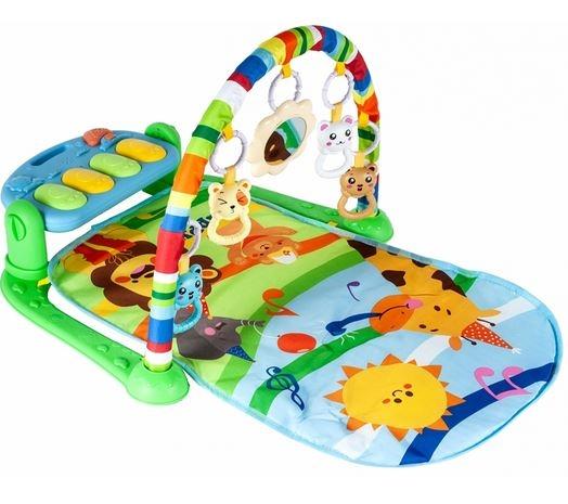 Tulimi Hrajúce interaktívne podložka s hrazdičkou a chrasítky, Žirafka