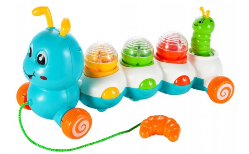 Tulimi Edukačná ťahacie hračka so zvukom - Stonožka