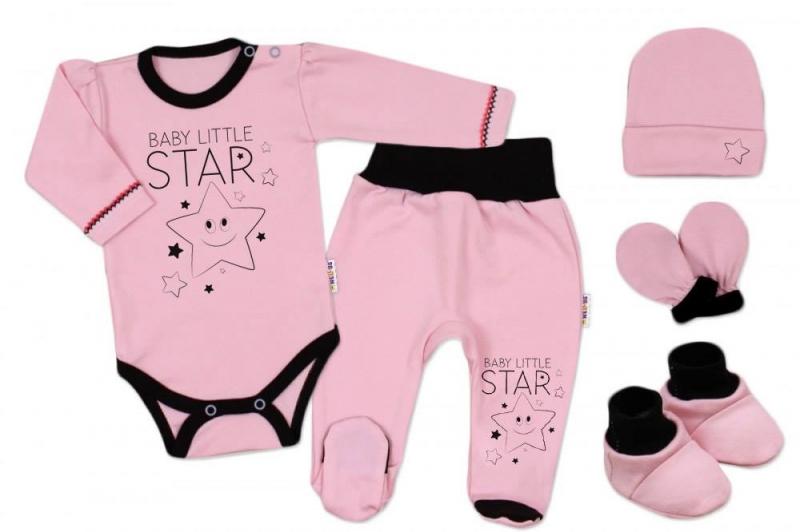 Baby Nellys Súpravička do pôrodnice Baby Little Star - ružová, veľ. 50-#Velikost koj. oblečení;50 (0-1m)