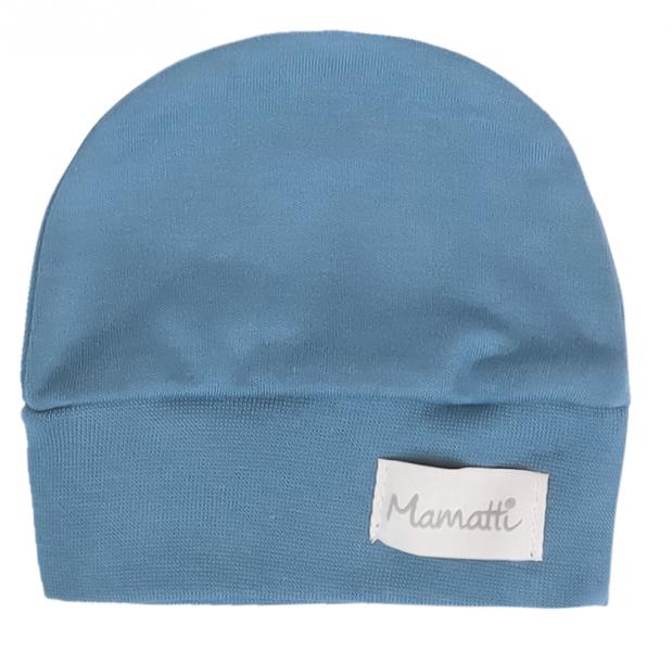 Mamatti Dojčenská čiapočka Vesmír, modrá