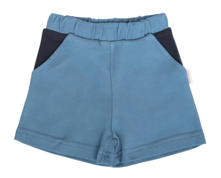 Mamatti Bavlnené kraťasky Vesmír - modré, veľ. 80-#Velikost koj. oblečení;80 (9-12m)