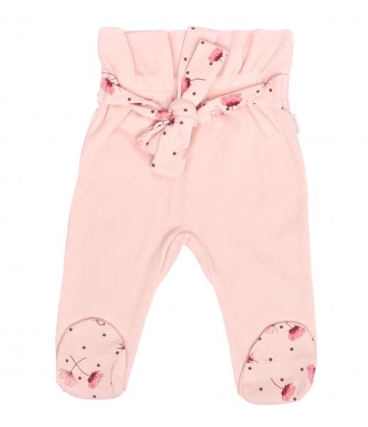 Mamatti Dojčenské polodupačky s ozdobným opaskom Vlčí mak - ružové, vel. 80-#Velikost koj. oblečení;80 (9-12m)