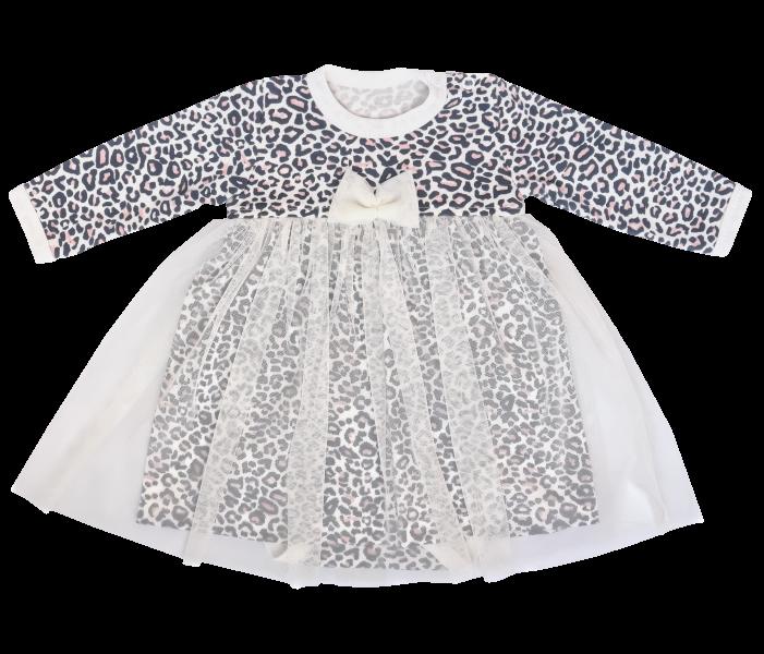 Mamatti Sukničkobody s tylom, dl. rukáv Gepardík - biele so vzorom, veľ. 80-#Velikost koj. oblečení;80 (9-12m)