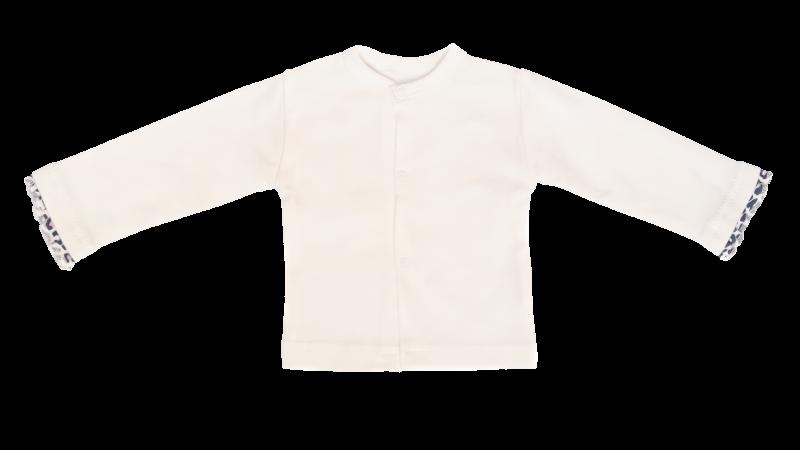 Kojenecká bavlnená košieľka Gepardík - biela, veľ. 68