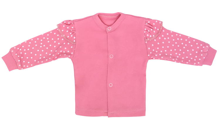 Mamatti Novorodenecká bavlnená košieľka, Princezna Bodka, veľ. 68-#Velikost koj. oblečení;68 (4-6m)