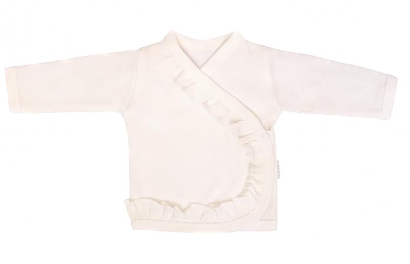 Mamatti Novozenecká bavlnená košieľka s volánikom Gepardík - biela