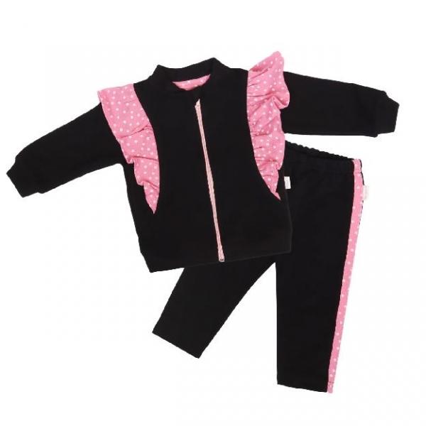 Mamatti Detská tepláková súprava zapínanie na zip Princezna Bodka - vel. 86-#Velikost koj. oblečení;86 (12-18m)