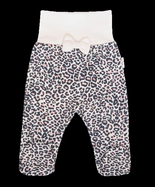 Mamatti Dojčenské polodupačky Gepardík s mašličkou a vzorom - granát, veľ. 56-#Velikost koj. oblečení;56 (1-2m)