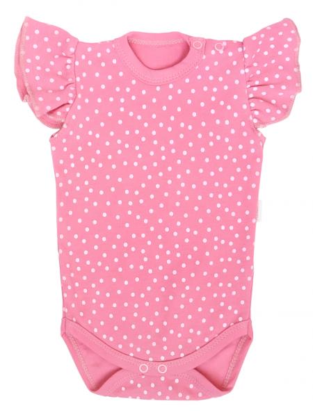 Detské body na ramienkach, Princezna Bodka - ružové, veľ 68