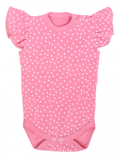 Mamatti Detské body na ramienkach, Princezna Bodka - ružové, vel. 86-#Velikost koj. oblečení;86 (12-18m)
