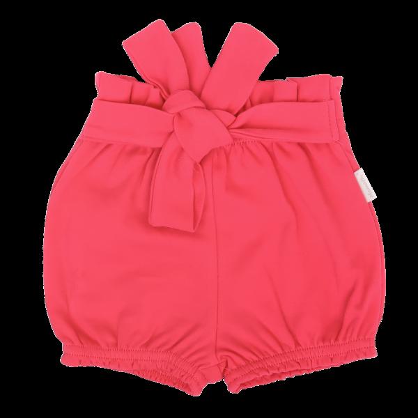 Mamatti Dojčenské bavlnené kraťasky s ozdobným pásikom, Myška - tm. růžová, veľ. 80-#Velikost koj. oblečení;80 (9-12m)