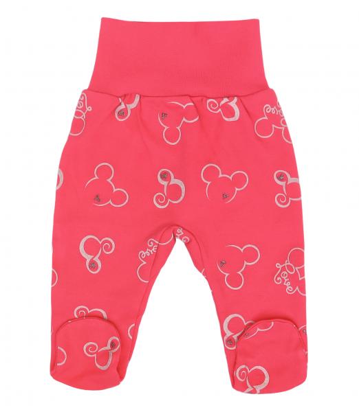Mamatti Dojčenské polodupačky Myška - tm. růžová, veľ. 80-#Velikost koj. oblečení;80 (9-12m)