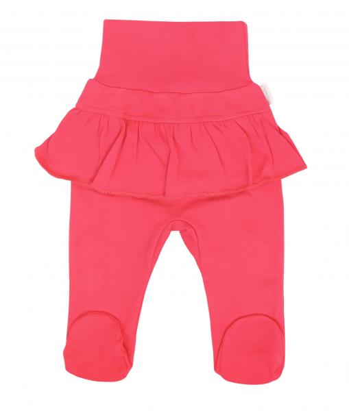 Mamatti Dojčenské polodupačky s voláníkom, Myška - tm. růžová, veľ. 74-#Velikost koj. oblečení;74 (6-9m)