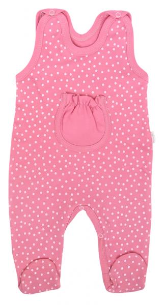 Mamatti Dojčenské dupačky Princezna Bodka, ružové s kapsičkou-#Velikost koj. oblečení;50 (0-1m)