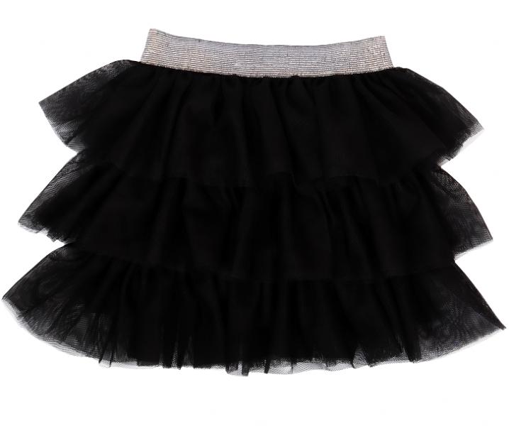 Mamatti Dojčenská tylová sukňa, Princezna Bodka - čierná se sivým pasom-#Velikost koj. oblečení;74/80