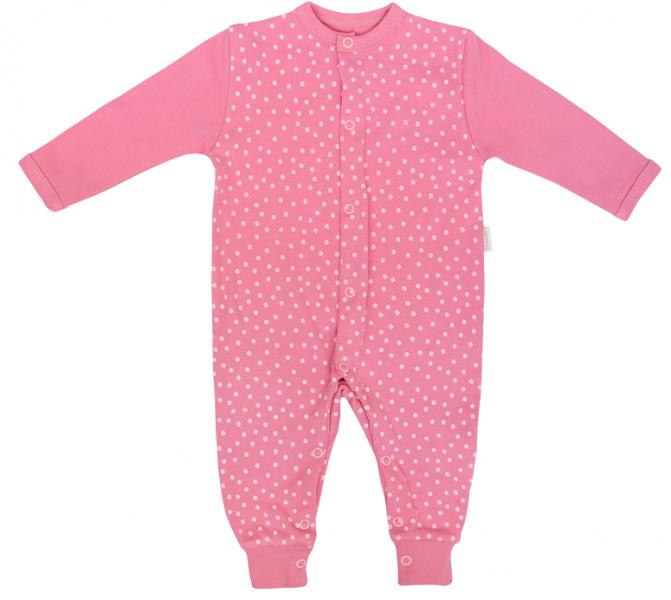 Dojčenský bavlnený overal bez šlapiek Princezna Bodka, ružový, veľ 68