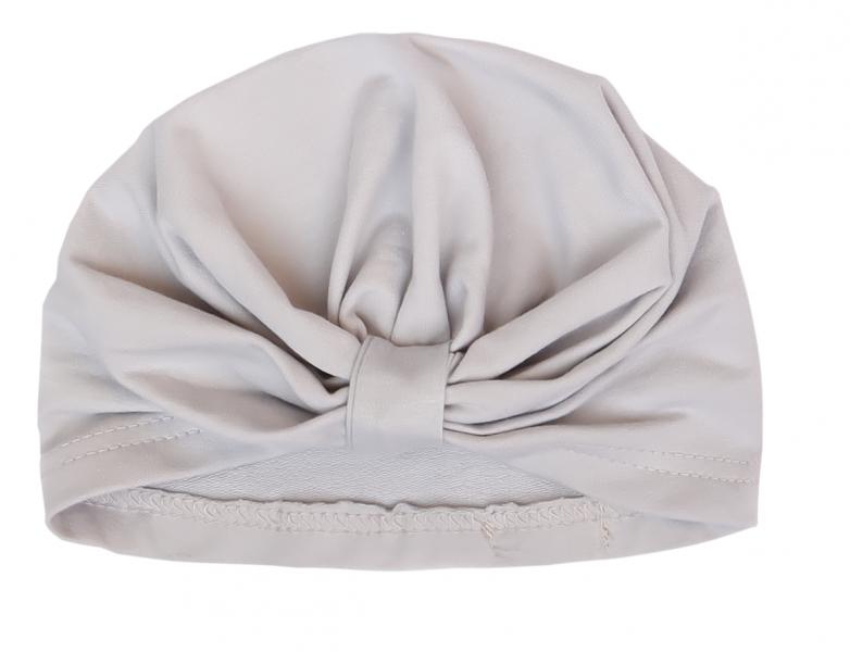Mamatti Bavlnená detská čiapka, turban, Myška - sivá