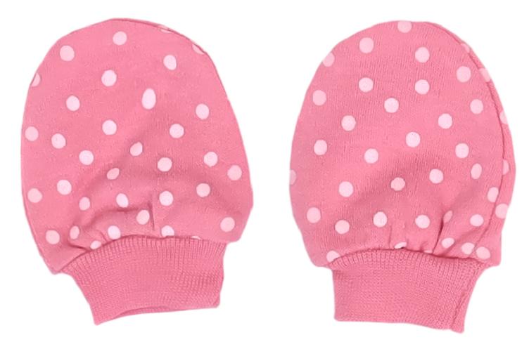 Mamatti Dojčenské rukavičky Princezna Bodka - ružové