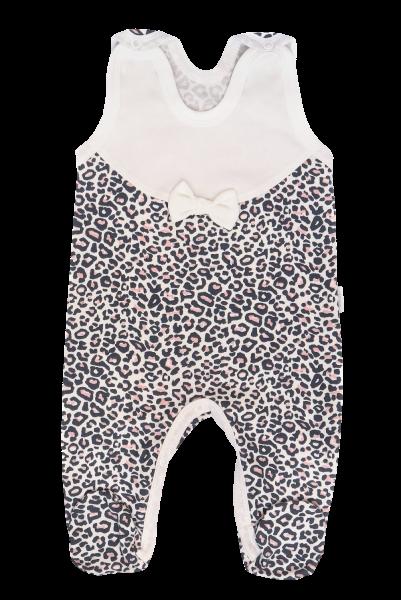 Mamatti Dojčenské dupačky Gepardík, biele se vzorom-#Velikost koj. oblečení;50 (0-1m)